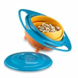 #7: Inovera Creative Baby Feeding Bowl Toy Non Spill Universal Gyro Bowl Dish 360 Rotate Funny Gift,Assorted Colour