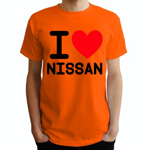 I love Nissan Herren T-Shirt Orange