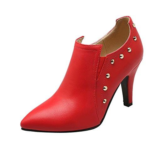 Mee Shoes Damen reizvoll spitz Trichterabsatz Geschlossen Knöchelstiefel Rot MyJ2B