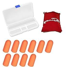 """cobalto®:–tappi per ridurre rumore e suono, orecchio spina di riduzione del rumore (silicone """"easy-ear-fit) Ø 1.1 cm Orange"""