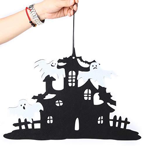 Zeichen Leuchtendes Kostüm - liaobeiotry Haunted House elf vlies hängen Zeichen Wand tür Dekoration Halloween Party Supplies Ornamente Requisiten Faltbare