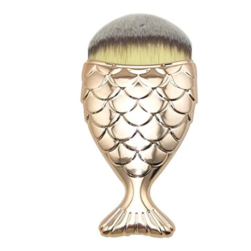 LONUPAZZ fish scale makeup brush fishtail brush poudre blush maquillage outils maquillage professionnel Or