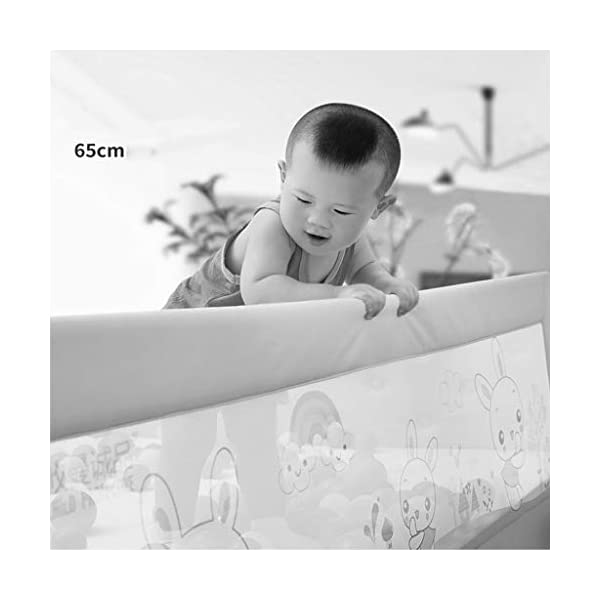 Playpens Crib Guardrail Baby Shatter-resistant Fence Large Bed 1.2-1.5 Meters Children Against Bedside Baffle (color : B, Size : 1.5m) Playpens ★ high quality non-toxic materials,Size:120cm/150cm ★ Vertical lift structure: no space is occupied, and it is more convenient to enter and exit. Push the fence down at the push of a button ★ height adjustment: can be adjusted according to the thickness of the mattress, so that the bed is close to the mattress. Avoid gaps between the mattress and the guardrail to prevent your child from falling 3