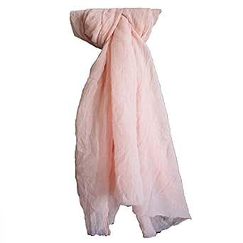 Shopping-et-Mode - Etole couleur saumon unie en coton - Saumon, Coton