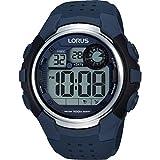 Lorus Watches Herren Digital Quarz Uhr mit Kautschuk Armband R2387KX9