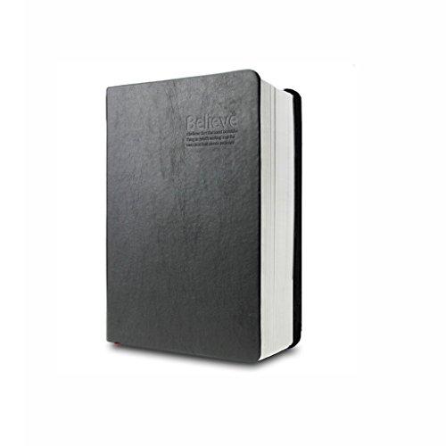 SAYEEC Notizbuch, klassischer Vintage-Stil, weicher Kunstledereinband, 320Blatt 640Seiten, unbedruckt 170*120mm Black 170*120mm 310 Sheets Lined Paper