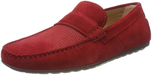 HUGO Herren Dandy_Mocc_SD Mokassin Rot (Bright Red 620)