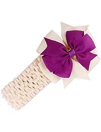 Stirnbaender - SODIAL(R)Stirnbaender Bowknot Haar Accessoires Maedchen Kleinkind Haarband (beige)