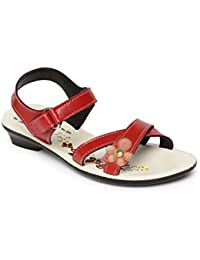 Paragon Girls Red Casual Slipper