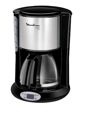 Moulinex FG362810 Subito - Cafetera de goteo programable, color negro y acero