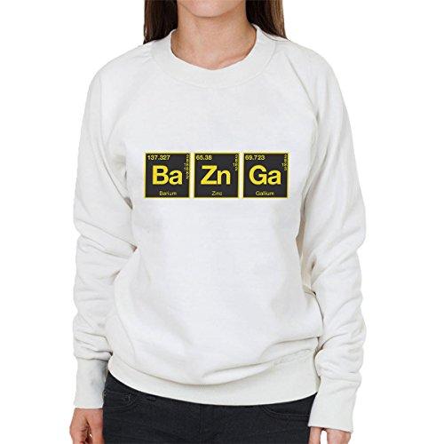 Bazinga Chemical Symbols Big Bang Threory Women's Sweatshirt white