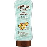 Hawaiian Tropic After Sun Silk Hydration AirSoft - Loción After Sun Hidratante Ultraligera con Aloe para después de la exposición al sol, fragancia Coco y Papaya, formato 180 ml