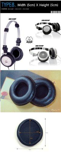 Kopfhörer Ohrkissen, Ohrpolster Ersatz für Kopfhörer, Kompatibel mit AKG-K26P, AKG-K414P, AKG-K416P (Packaged 1 Paar (2 Stück)) Type 8 - 3