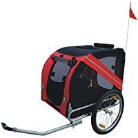 Gran perro – remolque y carrito con giratorio Rueda Pet Carrier cajas de mascota gato fácil resistente Carrier