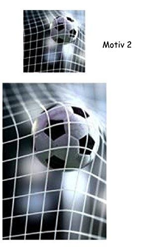 Mikrofaser Kinder Bettwäsche Fußball Tor Ball Netz Fotodruck grau schwarz weiß 2 tlg. mit Reißverschluß 135 x 200 cm
