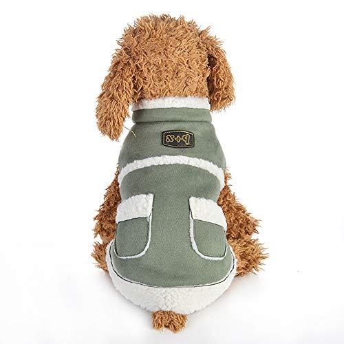 Berrose-SAMT zum Warmhalten Haustier Hund Tasche Kleidung Mantel Hundekleidung,Weiche Warme Hundewelpen Gestreift Kleines Welpen Kostüm Kleid