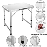 melysEU Portable Aluminiumlegierung Klapptisch Utility Table mit Tragegriff