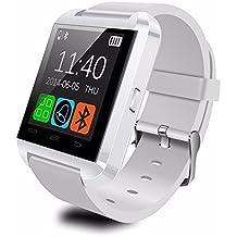 "U Watch U8 - Smartwatch (pantalla 1.48"", 64 MB, 128 MB RAM, Bluetooth, MicroUSB), blanco"