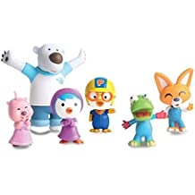 Pororo Good Realitic Qualified Figure (6 Pcs in 1 Set) Better Than Cartoon. (2.5 Cm - 10cm) by Pororo real figure