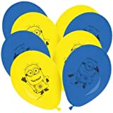 MINIONS 2086, Paquete de 8 Globos, Ideal para Fiestas y cumpleaños.