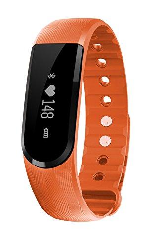 Beyong ID101HR - Braccialetto fitness / fitness tracker / smart bracelet / smartwatch con display Oled e Bluetooth 4.0 per Android e IOS - contapassi, monitoraggio del sonno