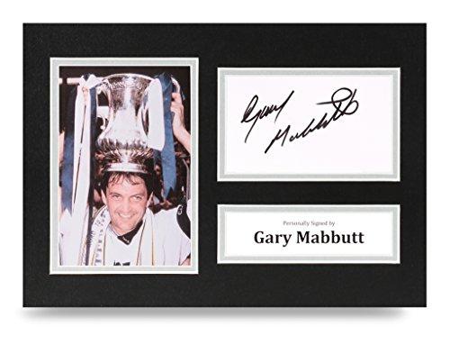 Gary-Mabbutt-Signed-A4-Photo-Display-Tottenham-Autograph-Memorabilia-COA