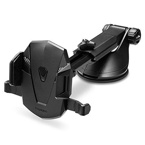 Spigen Kuel TS35(AP12T),Handyhalterung Auto,360 Grad,Ein Hand Bedienung,für Windschutzscheiben und Armaturenbretter-Schwarz