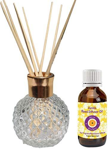 Reed Diffusor mit Vanille Öl (30ml)-Duft hergestellt in Spanien -