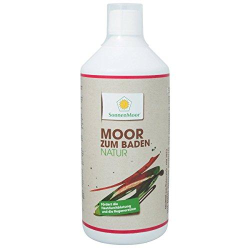 Sonnenmoor - Moor zum Baden Natur 1000 ml - Moorbad für die Badewanne Badezusatz zur Förderung der Hautdurchblutung für eine regenerierende und entspannende Wirkung auf Körper, Geist und Seele -