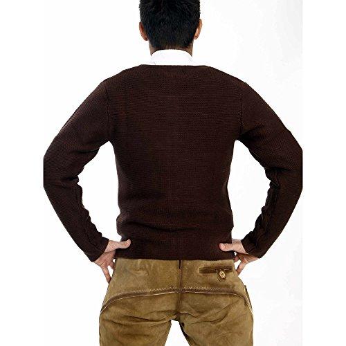 ALMBOCK Herren Strickjacke | Cardigan für Männer in dunkel-braun | Trachten Strickjacke | Größen S, M, L, XL, XXL, XXXL - 6