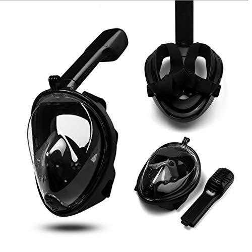 QHJ Schnorchel,2019 Upgrade G2 Full Face Schnorchel Maske mit neuesten Dry Top System, Faltbare 180 Grad Panorama Blick Schnorchelmaske mit Kamera Halterung | Sichere Atmung, -