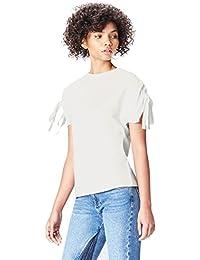 Amazon-Marke: find. Damen T-Shirt mit rundem Ausschnitt