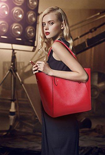 Sunas Borse nuove di modo della borsa delle signore retro sacchetti semplici retrò del sacchetto di spalla del sacchetto rosso