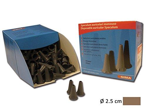 Gima Einweg-Aufsätze für Mini-Ohr-Spekula, 2,5mm, grau, kompatibel mit den Mini-Serien von: Heine, Kawe, Riester, Gima und anderen Marken, 250 Stück