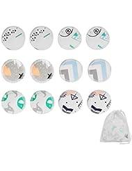 AOLVO Tampons Démaquillants écologiques, 12 Pcs Réutilisables Tampons Démaquillants Coton Lavable en Bambou Lavables Démaquillant Tampons avec Sac à Linge