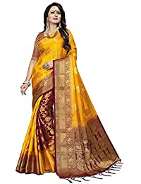 C J Enterprise Women's Silk Saree With Blouse Piece