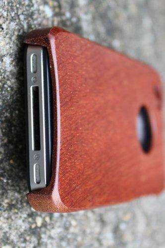 SunSmart Einzigartigen, handgefertigten Naturholzhartholzhülle für das iPhone 4 4S (bunte Streifen) sapele