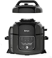 Ninja OP300 Foodi Ultimate 8 in 1 Pressure Cooker with Crisping, 1460 Watts, 6 Litre Capacity, black, Nutri Ni