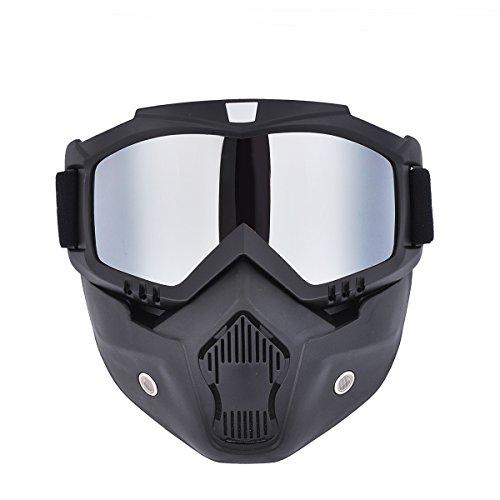 Máscara motocross Madbike gafas filtro boca extraíbles