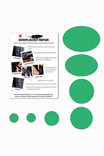 Doudoune Patch de réparation kit (Autocollant) Vert printemps