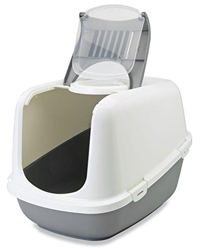 XXL Katzentoilette NESTOR JUMBO weiss-grau speziell für große Katzenrassen - 2