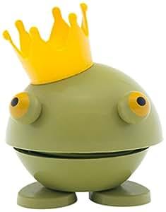 Hoptimist Baby Prince Kvak, Petit, Grenouille avec Couronne, Idée Déco/ Jouet, Plastique, Vert, 8009-50
