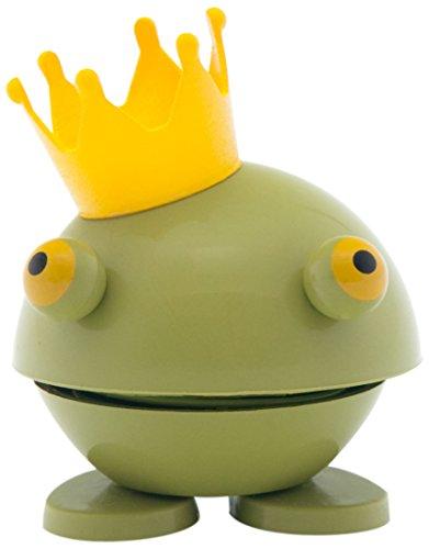 Hoptimist Baby Prince Kvak, Klein, Frosch mit Krone, Deko- / Spielidee, Kunststoff, Grün, 8009-50