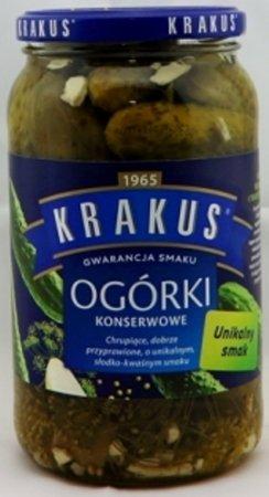 Krakus Eingelegte Gurken (Ogorki konserwowe) Nettogewicht: 865 g, Abtropfgewicht: 450 g