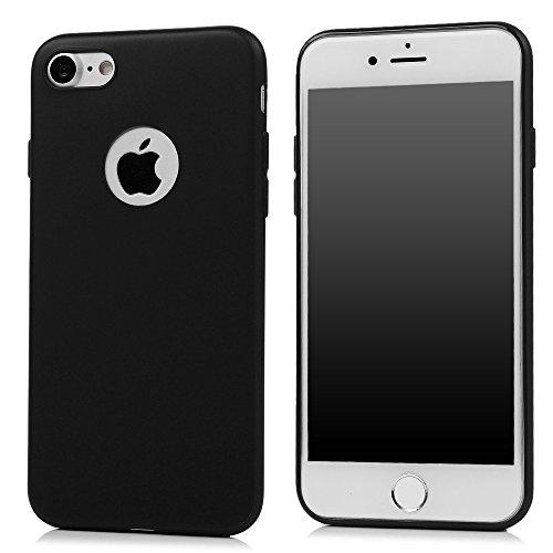 iPhone 7 Hülle Kasos iPhone 7 4,7 Zoll Schutzhülle Schrubben TPU Silikon Case Ultra Dünn Tasche Handy Cover Handytasche Softcover in Rosa Schwarz