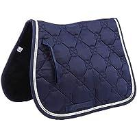 Almohadilla de silla de montar de caballo Almohadilla de tela de silla de montar de poni de algodón suave transpirable Almohadillas de silla de montar ecuestres absorbentes de sudor(Azul marino)
