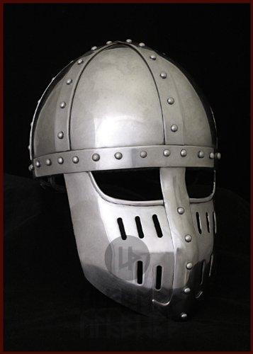 Hochmittelalter Spangenhelm mit Gesichtsplatte, Gr. L von ULFBERTH - schaukampftauglich
