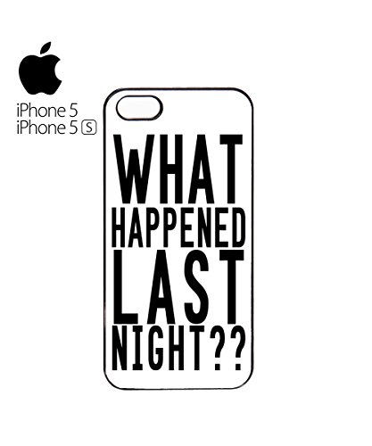 What Happened Last Night ?? Mobile Phone Case Cover iPhone 6 Plus + Black Blanc