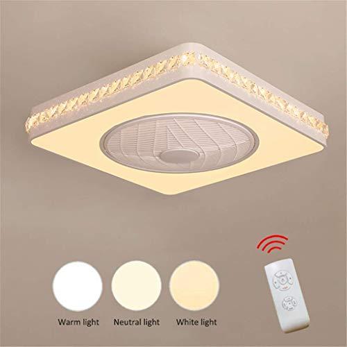 YEXIN Neue Moderne Kreative LED Fan Deckenventilator LED Deckenleuchte mit Fernbedienung Leise Deckenventilator Schlafzimmer Lampe Wohnzimmer Decorative (Color : Style C)