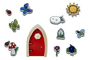 The Irish Fairy Door Company FD554455 - Adhesivo Decorativo para Pared con Purpurina